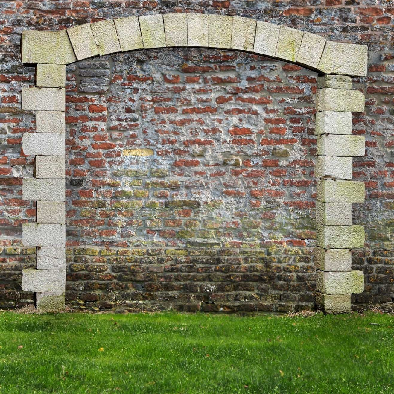 19th century sandstone arch