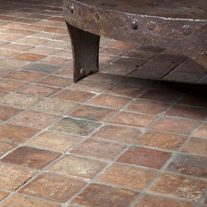 """Old """"Janshof"""" terracotta floor tiles"""