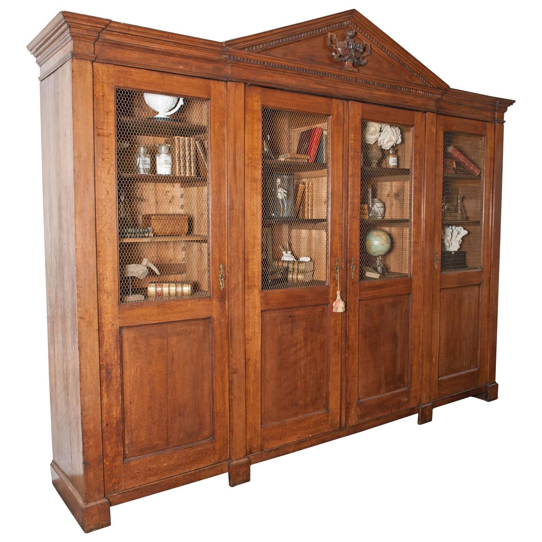 Very large Dutch Neoclassical oak cupboard/bookcase