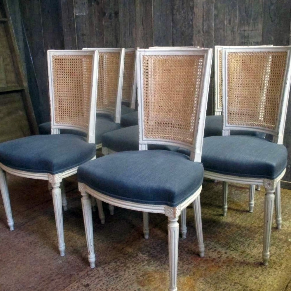 8 old restored Louis XVI chairs