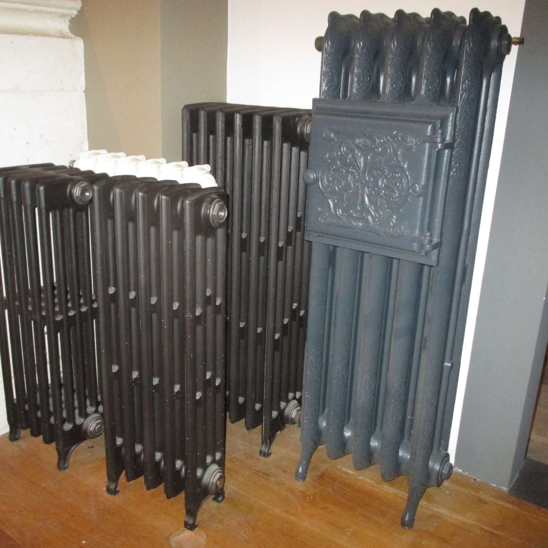 Cast iron radiators and taps