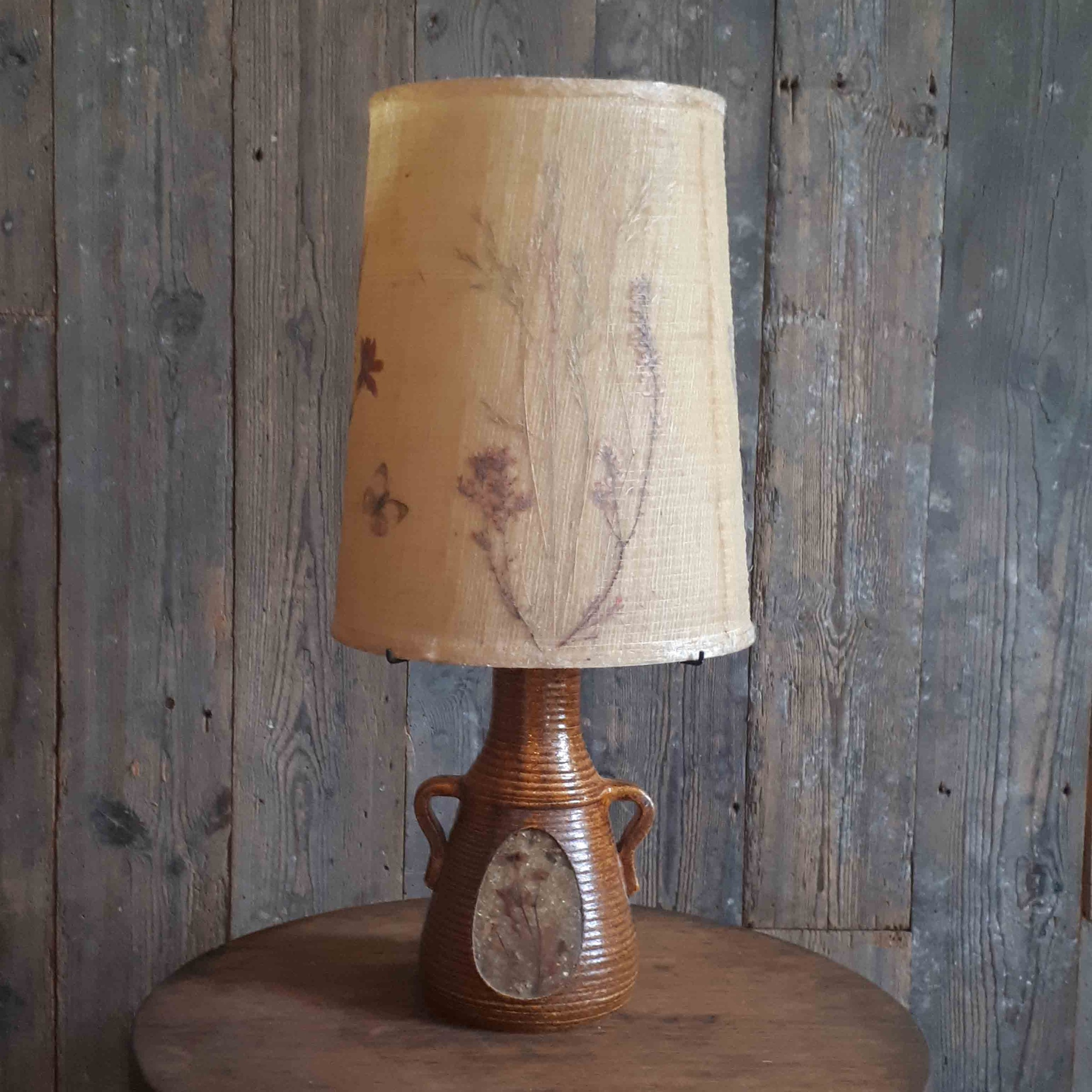 Accolay brown ceramic lamp with original lampshade