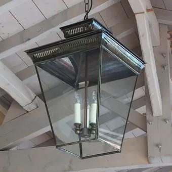 Aged brass lantern