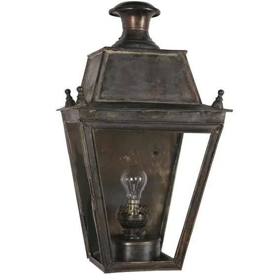 Aged brass wall lantern