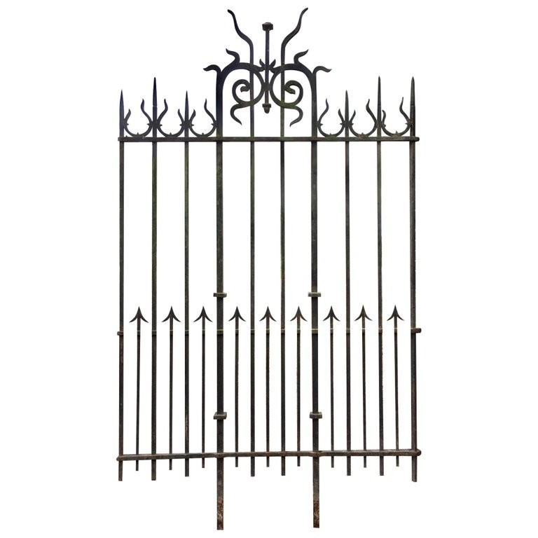 140 meters of antique wrought iron fence