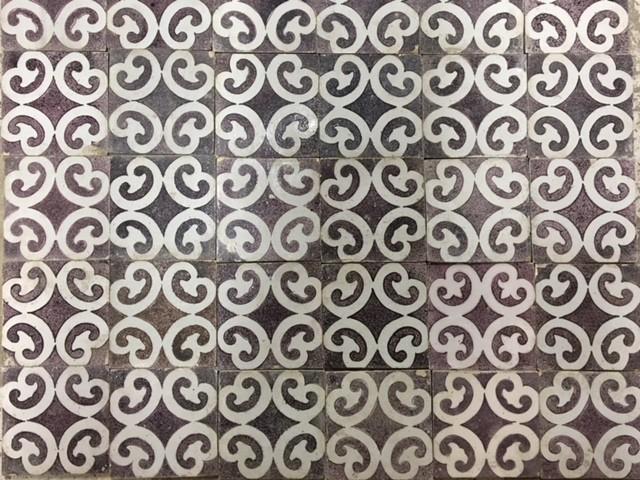 Antique wall tiles