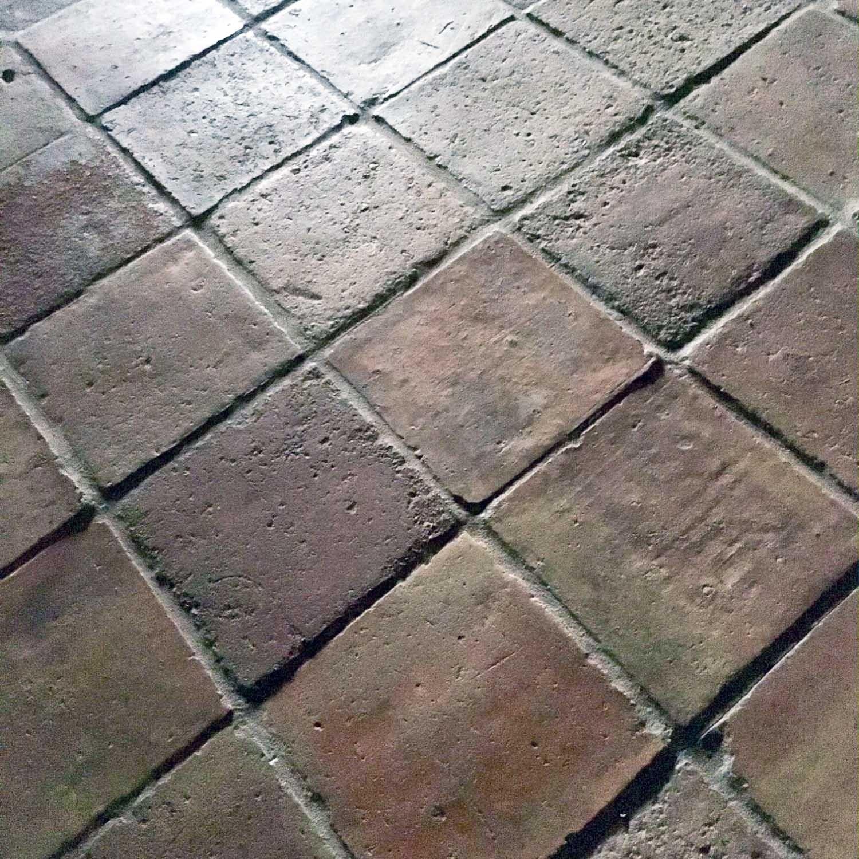 Various antique terracotta tiles