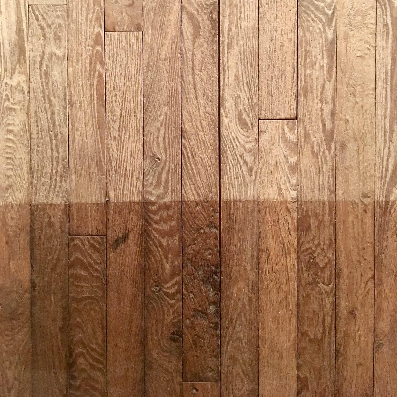Antique oak parquet