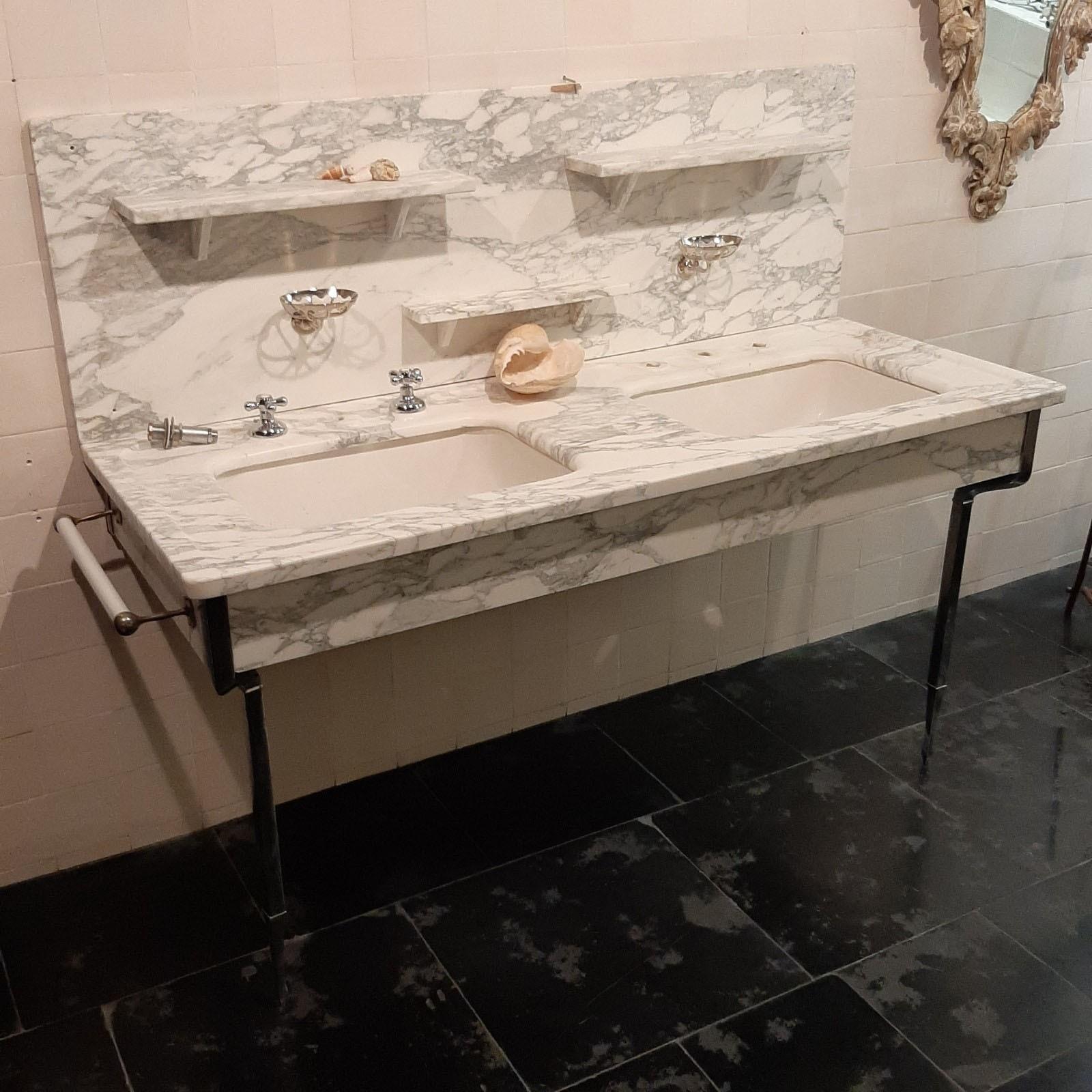 Arabescato marble washbasin furniture