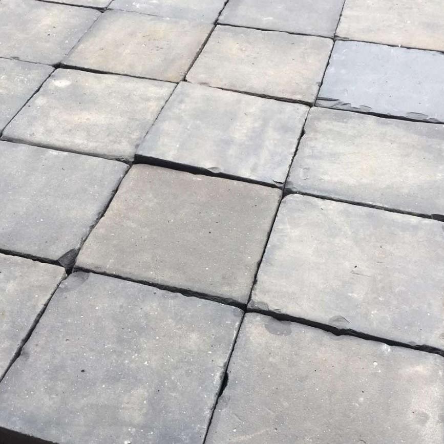 Blue Terracotta Floor Tiles Baked Hard