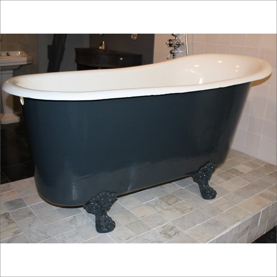 Antique cast iron bath on claw feet