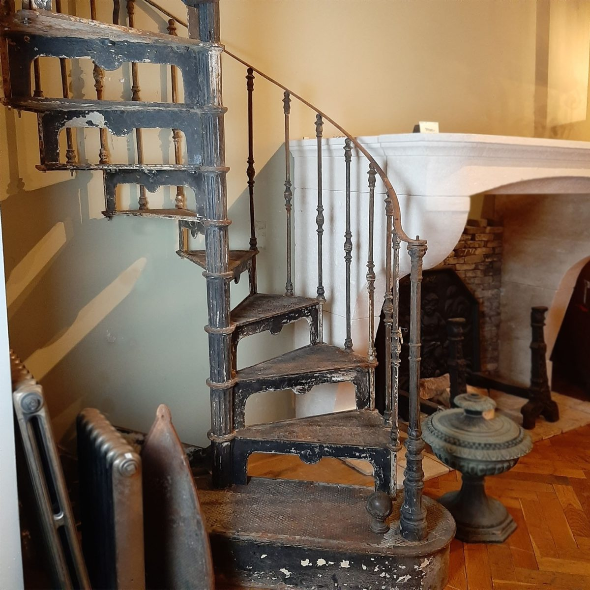 Picture of: Antique Cast Iron Spiral Staircase Piet Jonker