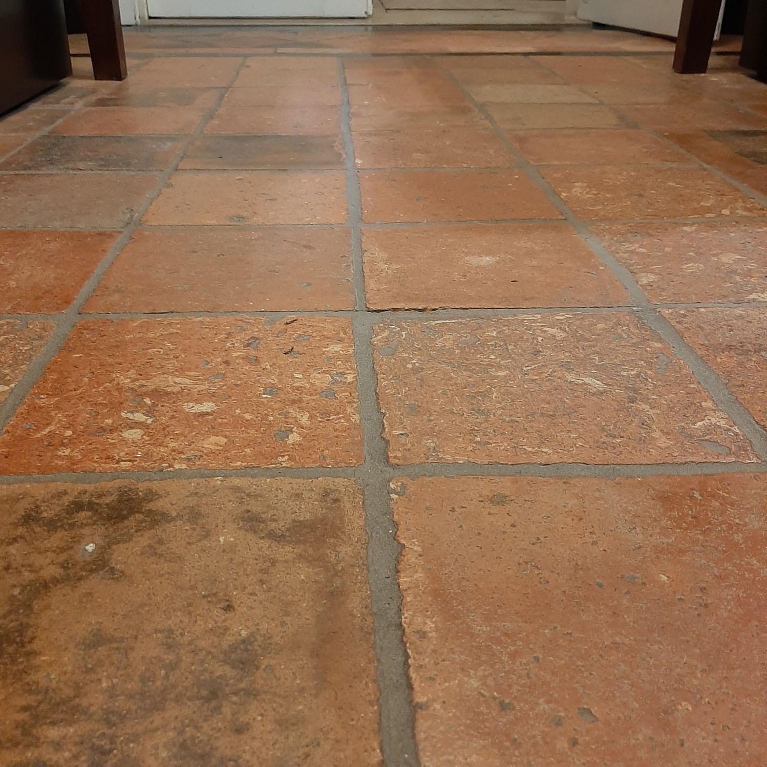 Antique French Terracotta Tiles Large