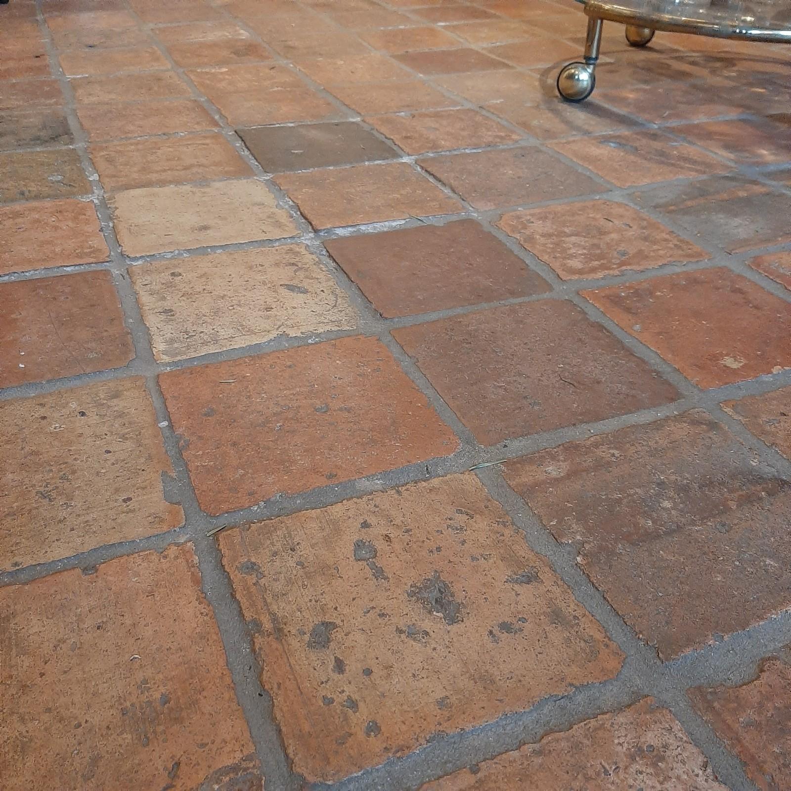 "Antique French terracotta tiles ""Small Janshof"""
