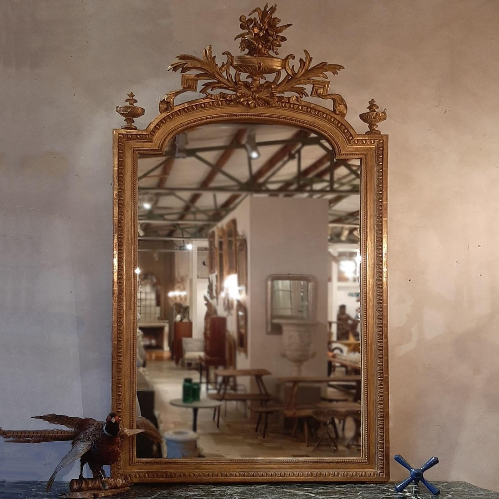 Antique gilt French mirror