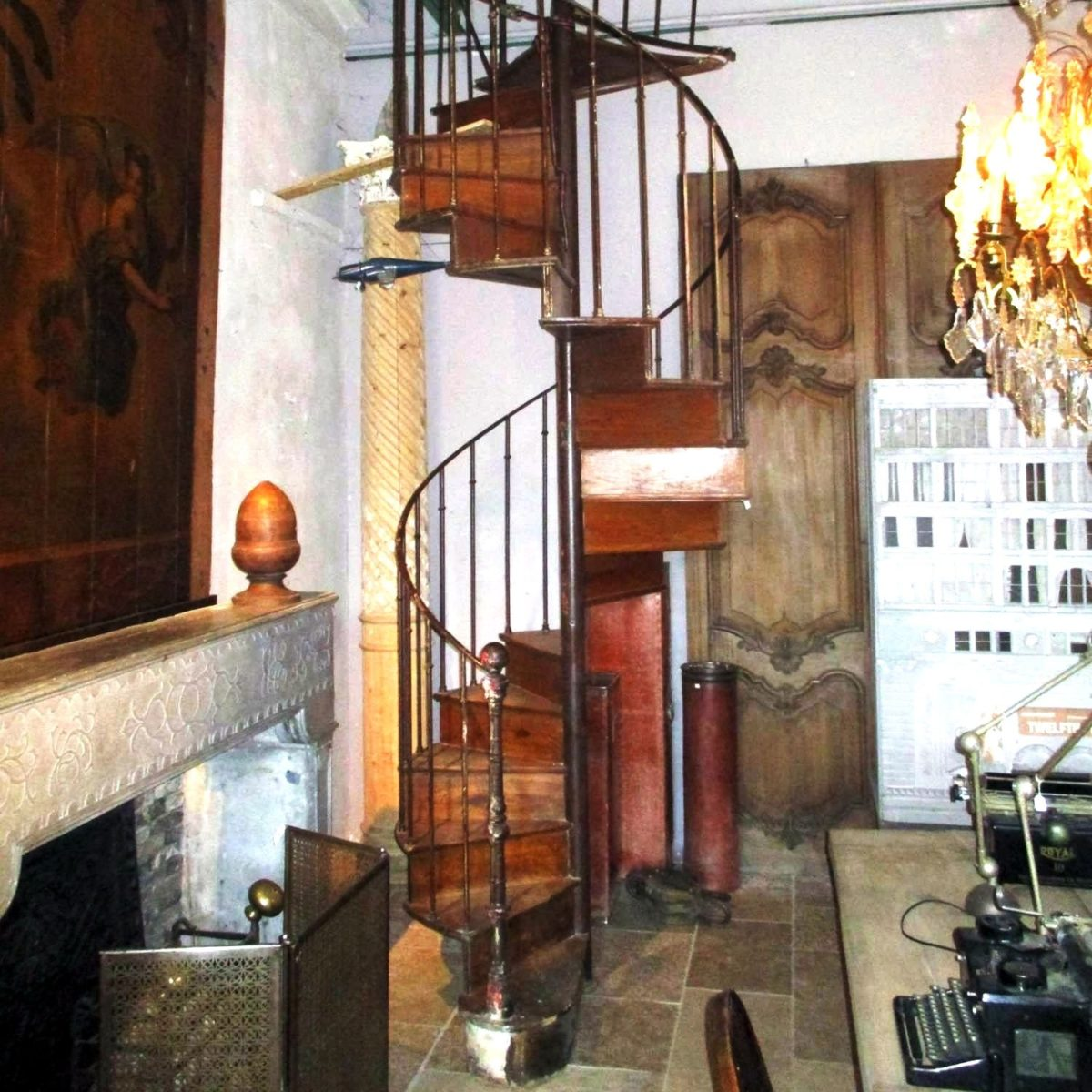 Picture of: Antique Oak Spiral Staircase B Gilardi Piet Jonker
