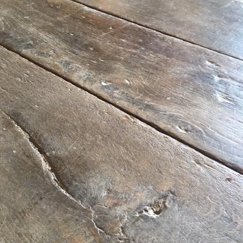 Antique oak wooden floor