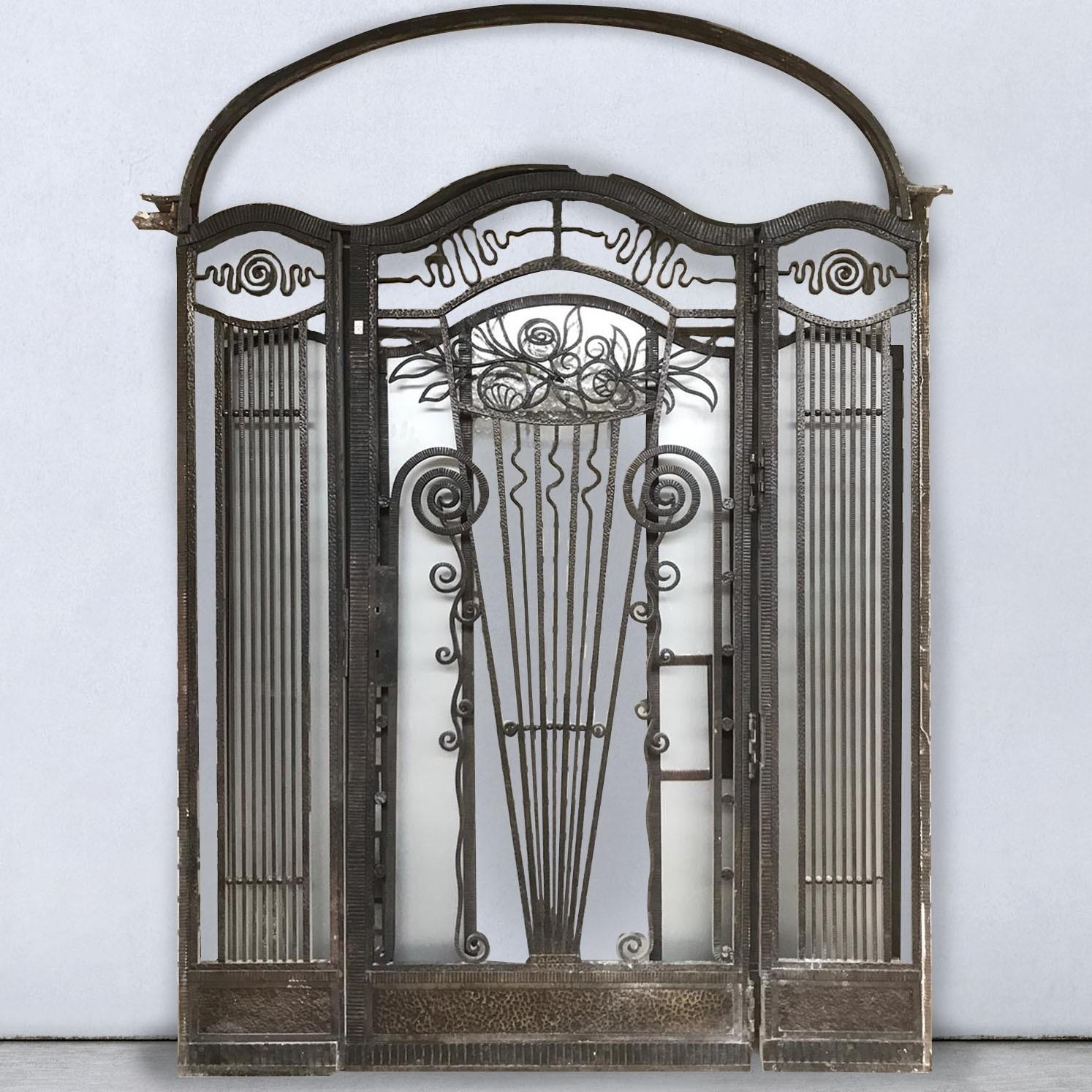 Antique wrought iron portal Art Deco