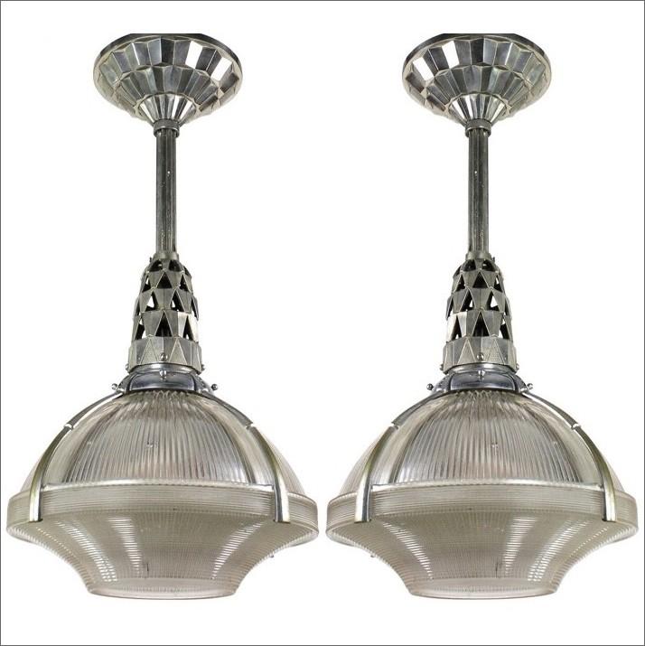 """Holophane"" ceiling lamp, Jacques Emile Ruhlman"