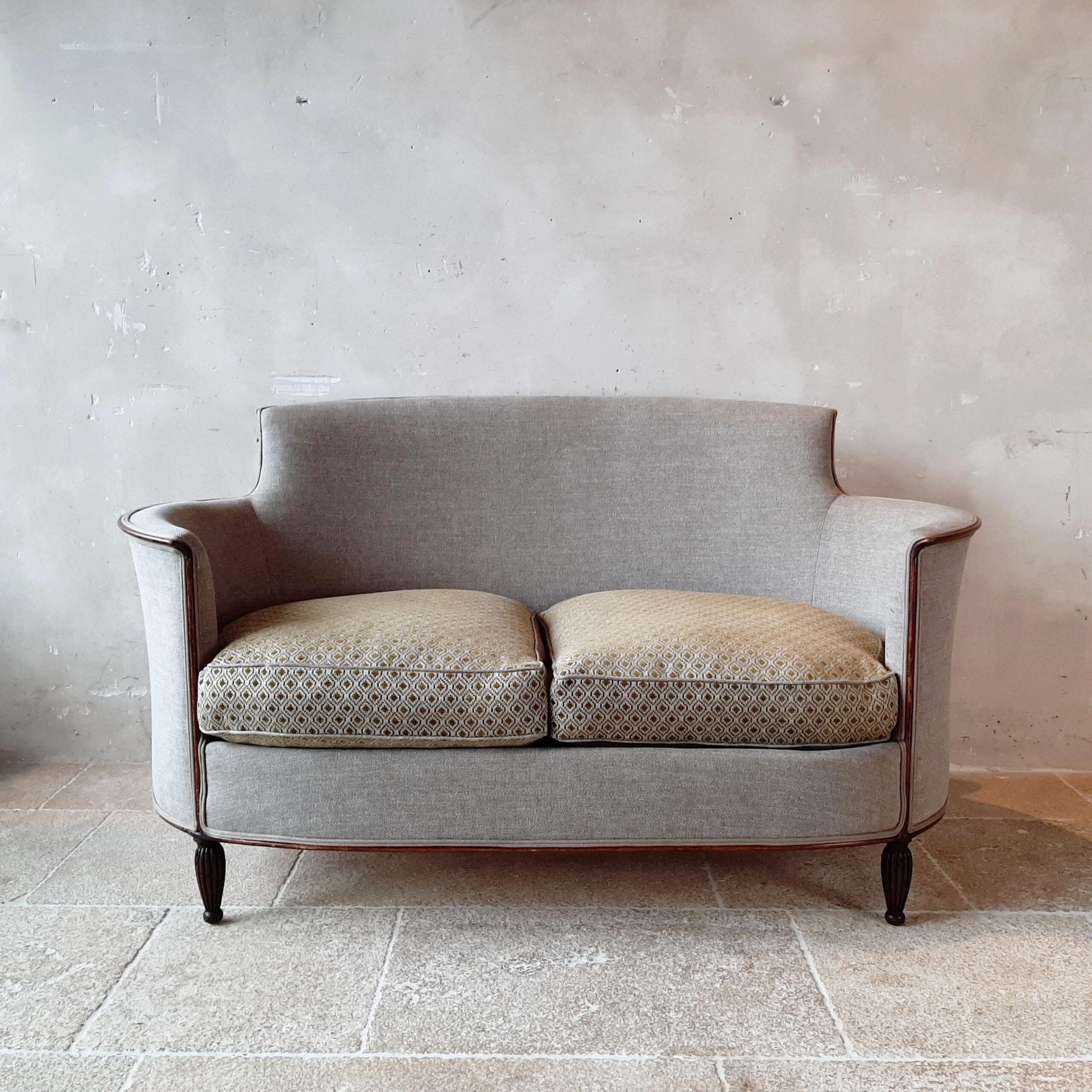 1950s Sofa In Art Deco Style Piet Jonker