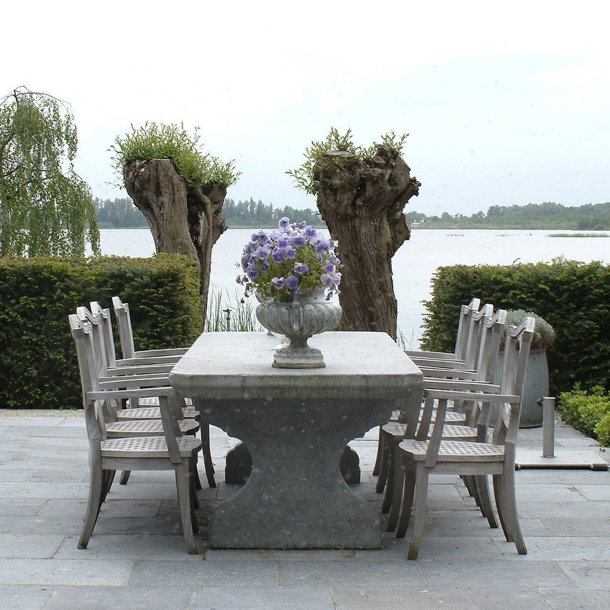 Belgian bluestone garden table