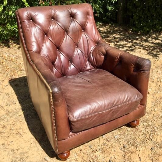 Leather Chesterfield armchair