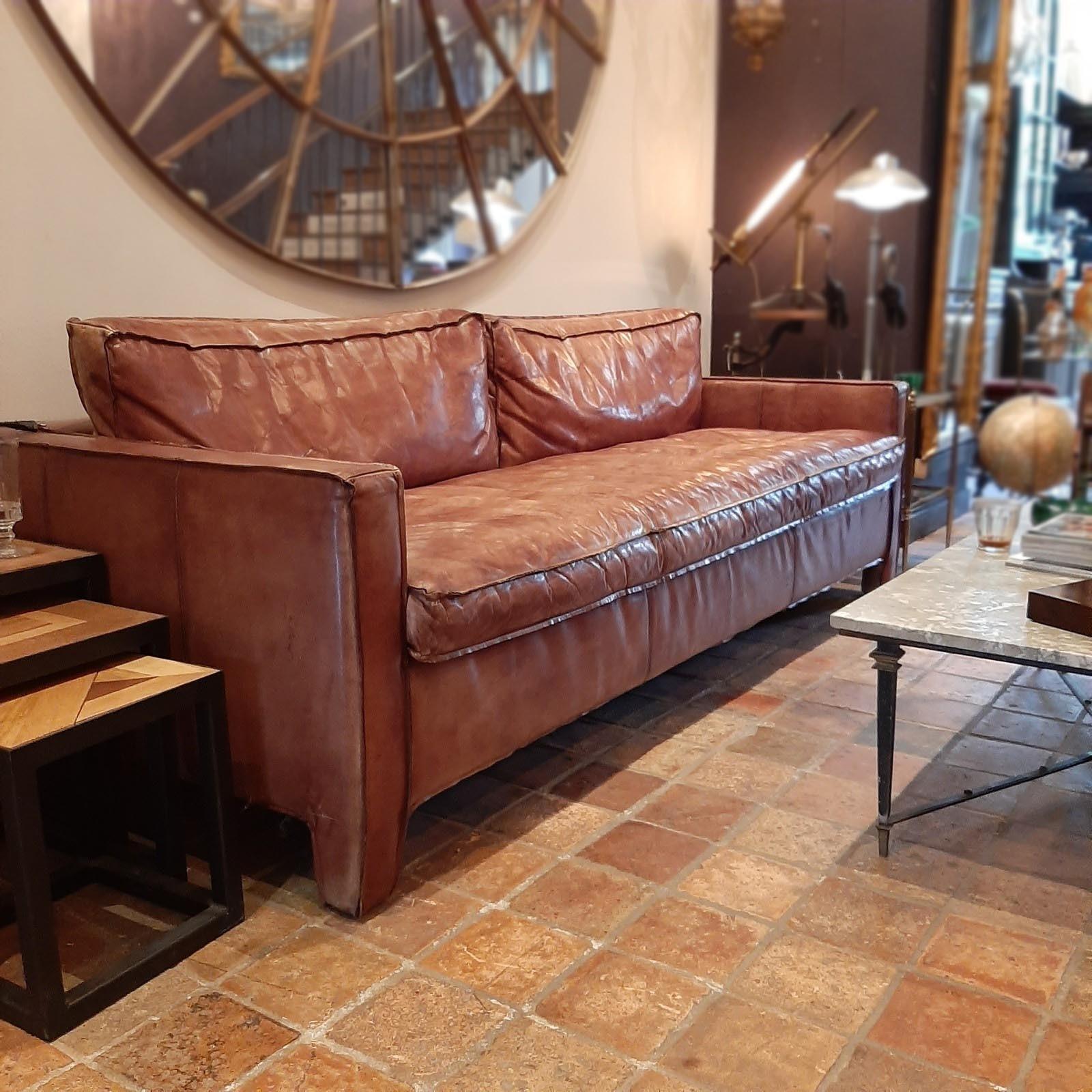 Calfskin 3-seat sofa