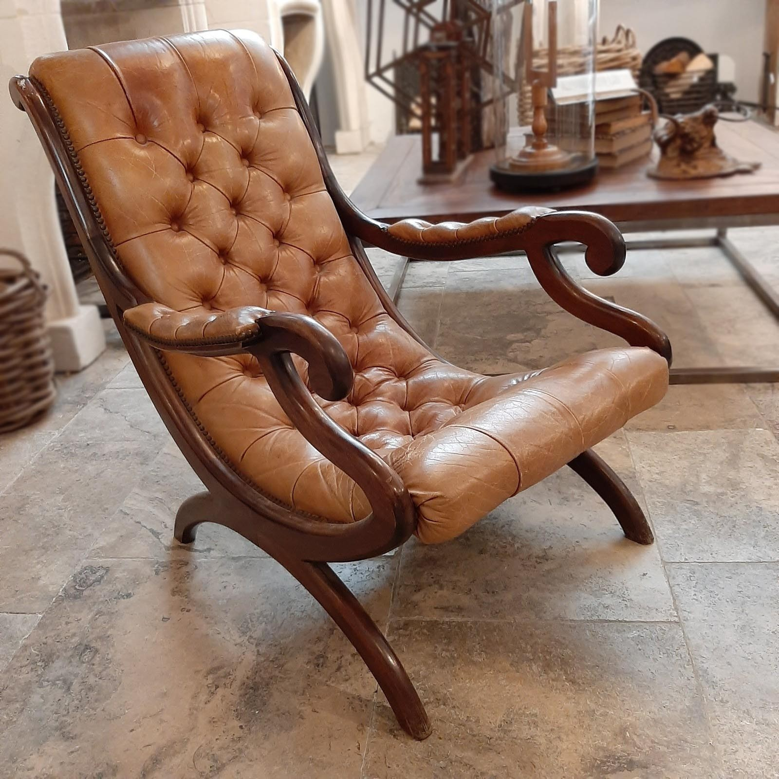 Old English Chesterfield armchair