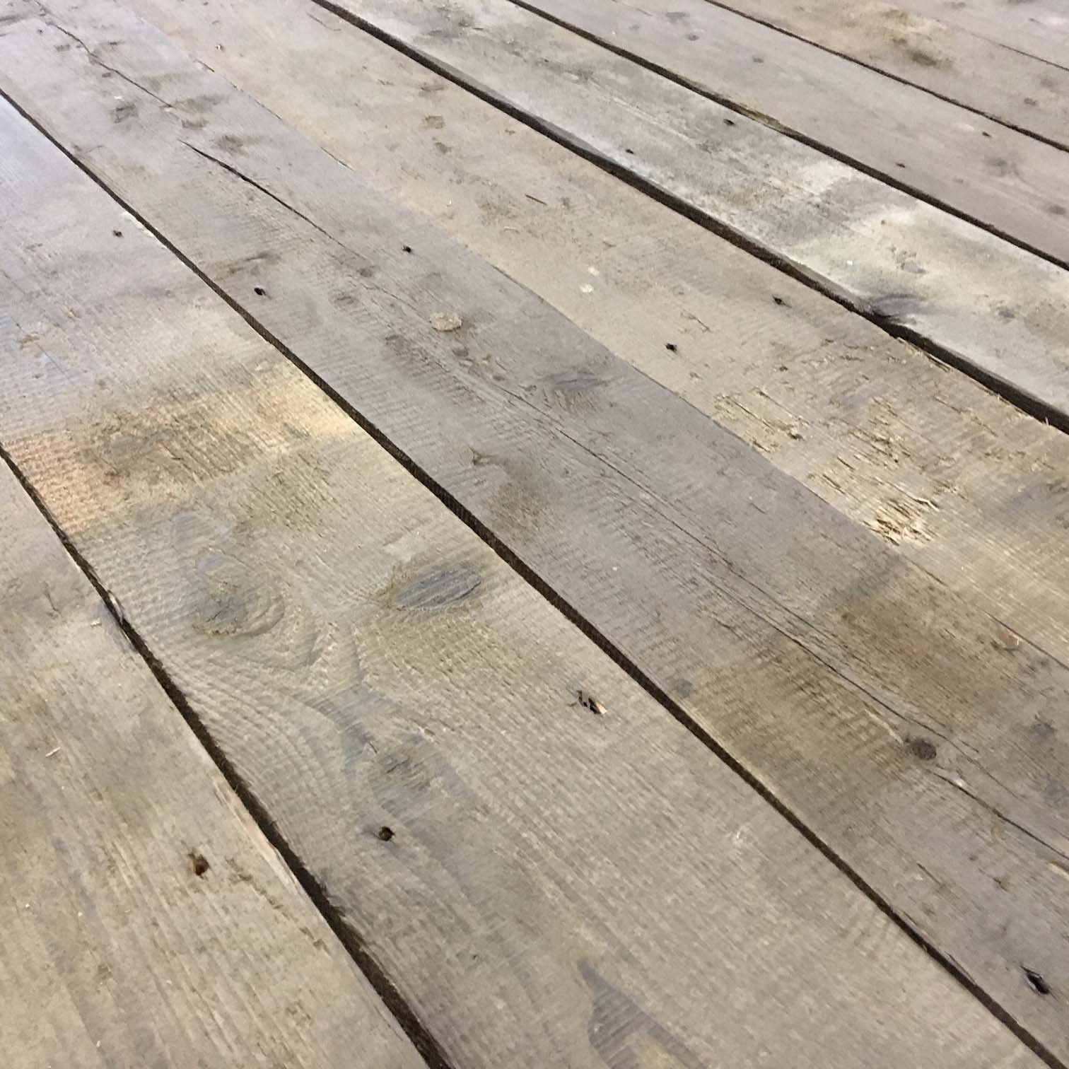 Extra thick old floorboards from an old warehouse