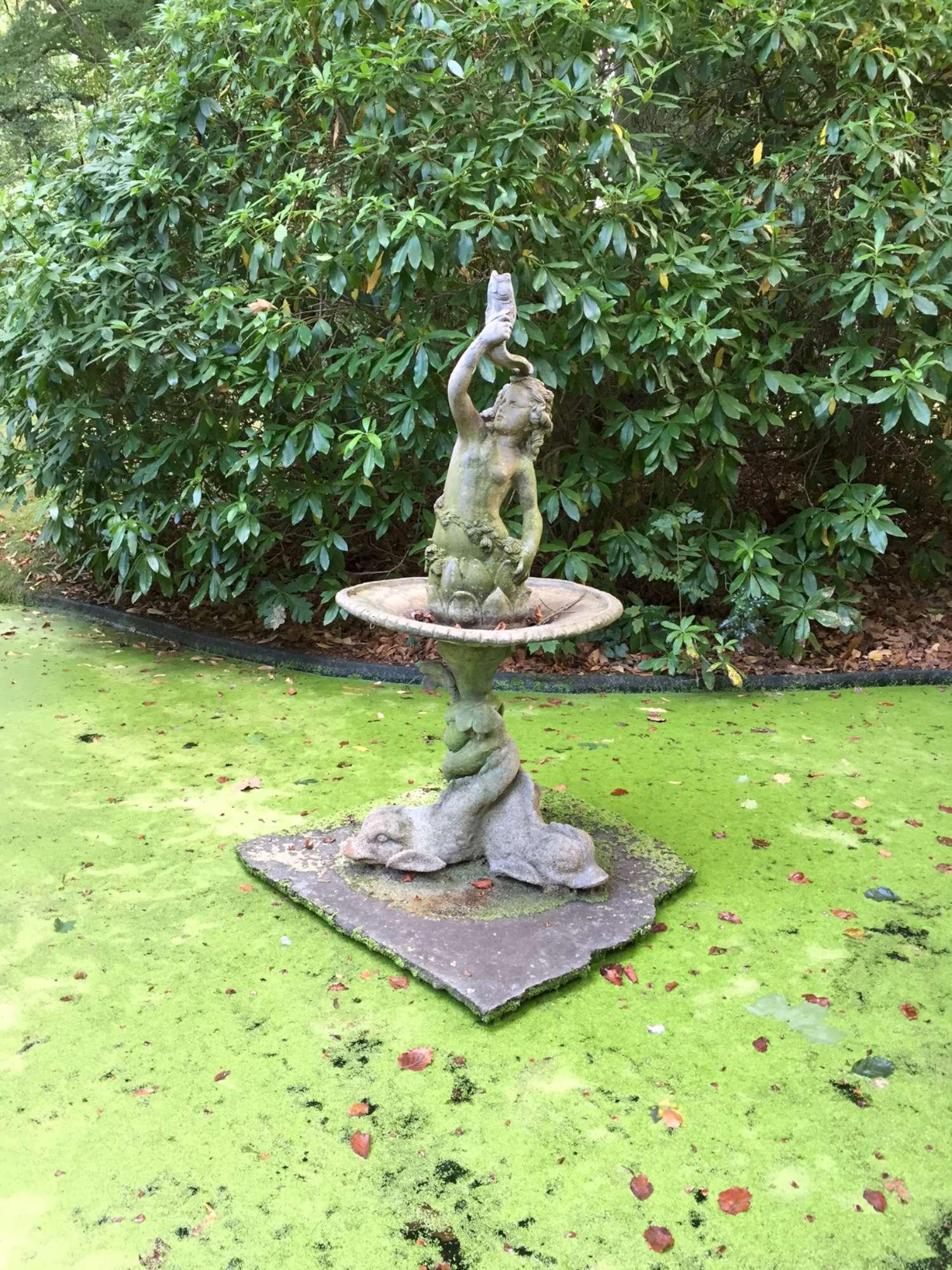 Antique leaden fountain