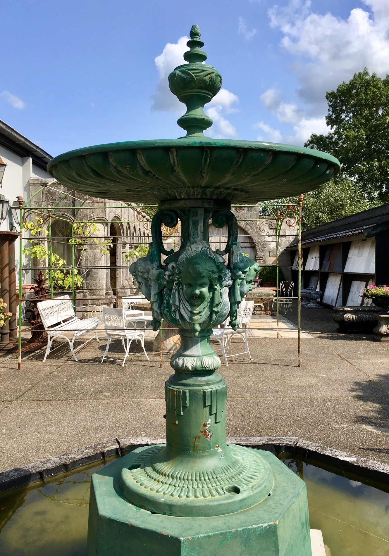 Beautiful old French city fountain