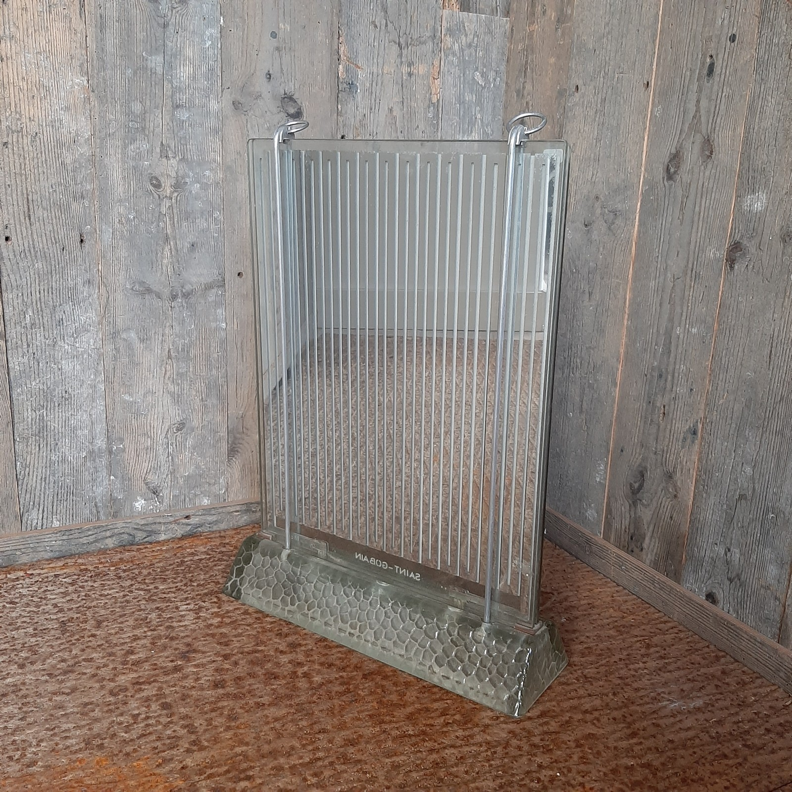 Glass radiator Art Deco designed by Rene Coulon for Saint Gobain