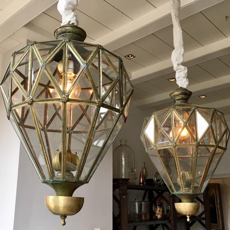 Two large decorative lanterns