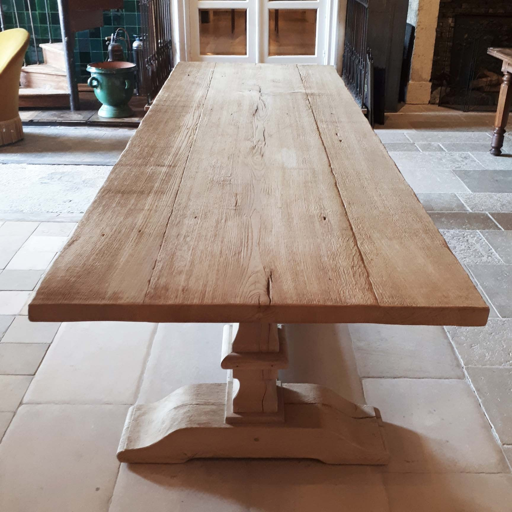 Cloister table made from old oak