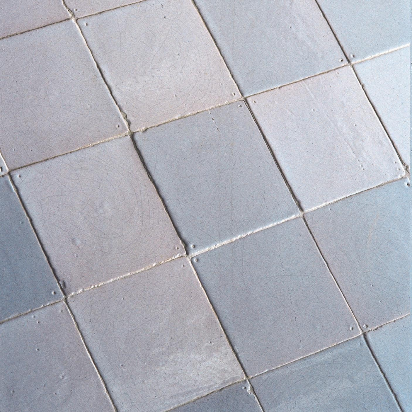 """Handmade Dutch tiles or so-called """"witjes"""" in various shades of white"""