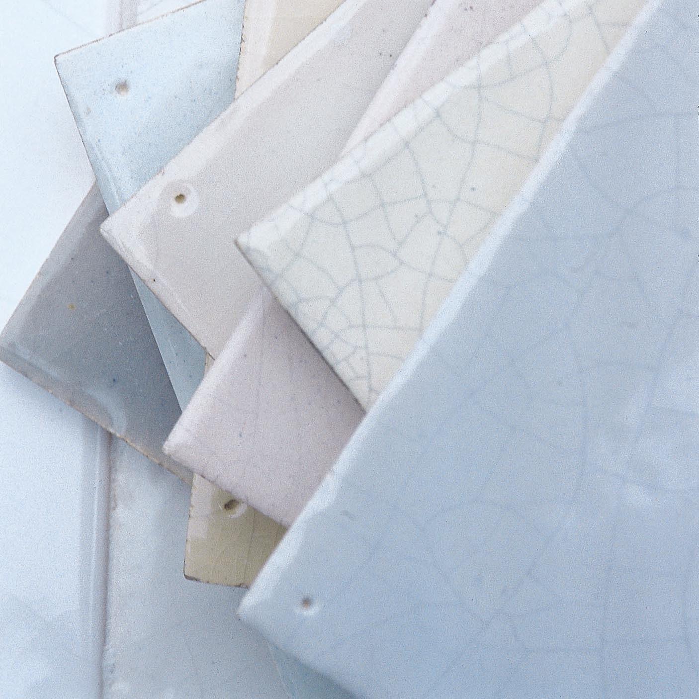 "Handmade Dutch white tiles or so-called ""witjes"""