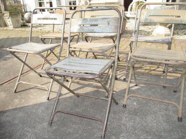 Party old metal terrace chairs
