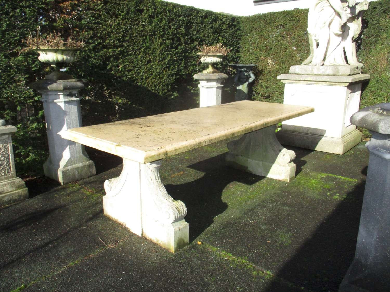 Old stone garden table