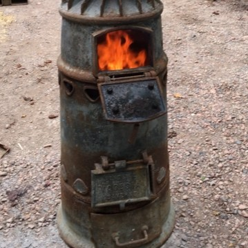 Industrial cast iron stove