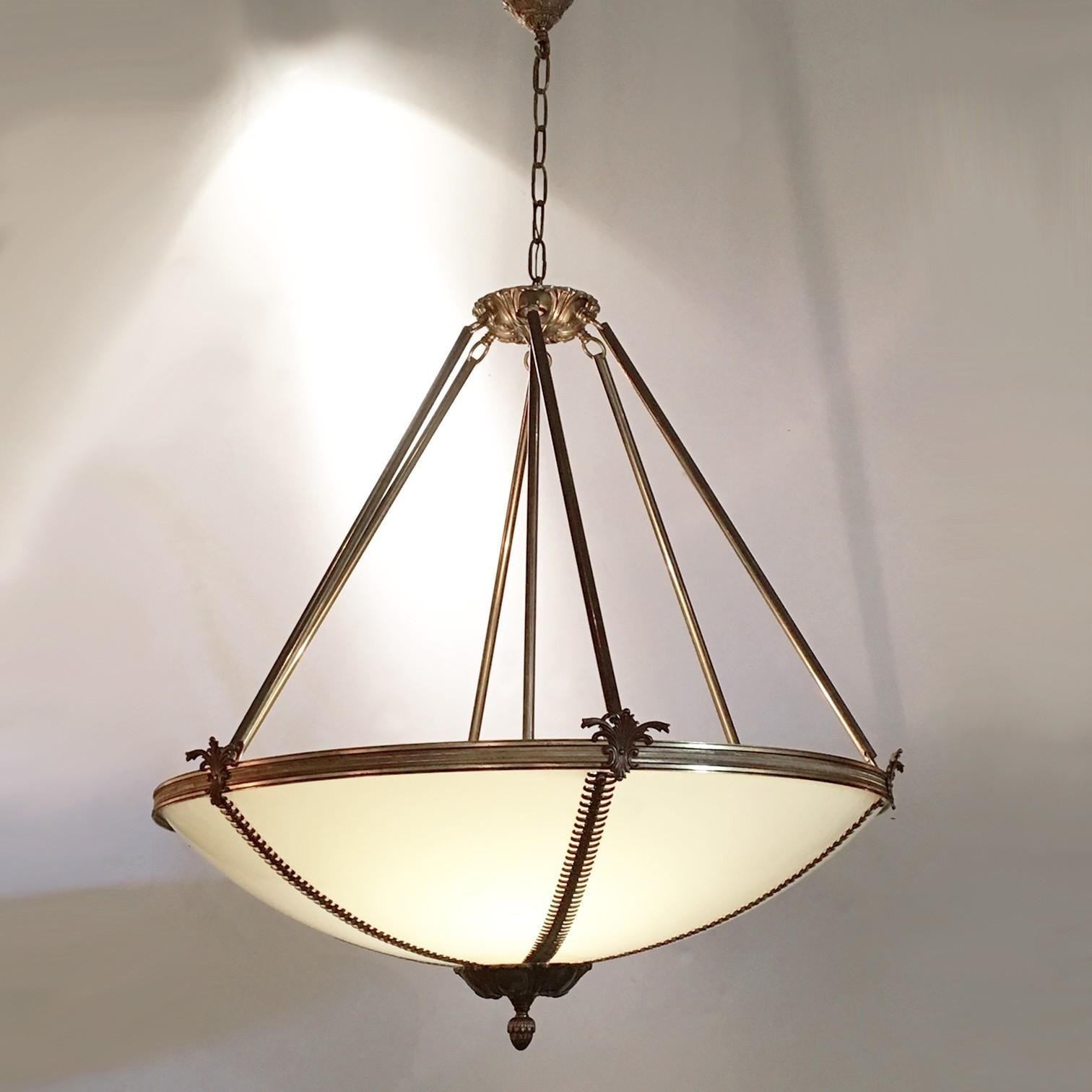 Large Hollywood regency chandelier