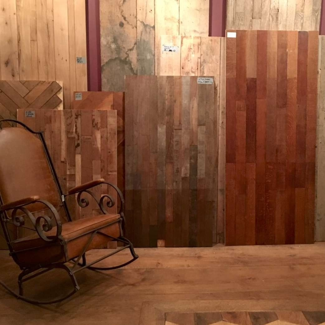 Large changing collection of old and antique wooden floors.