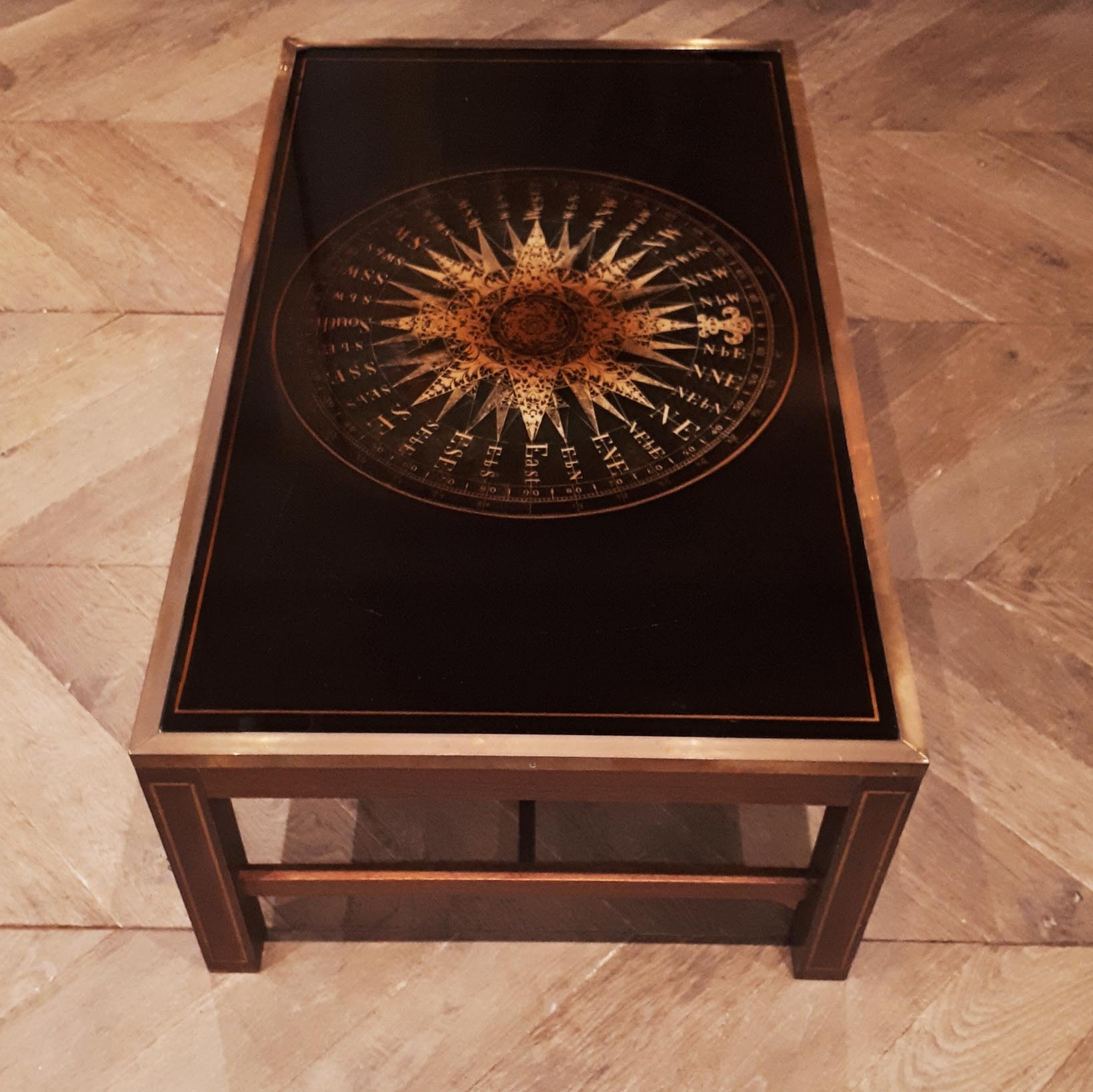 Midcentury Maison Jansen vintage coffee table