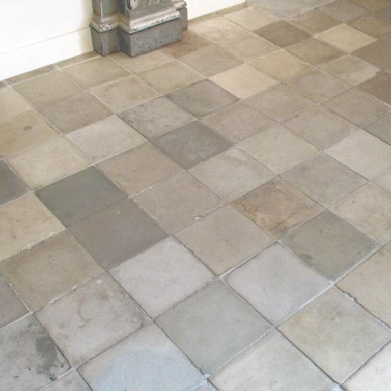 Mix of old floor tiles