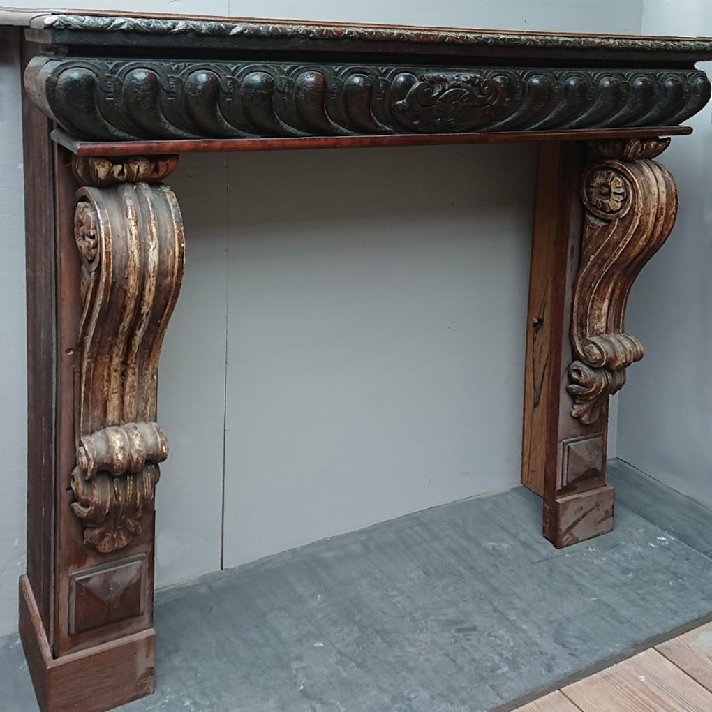 Old oak fireplace