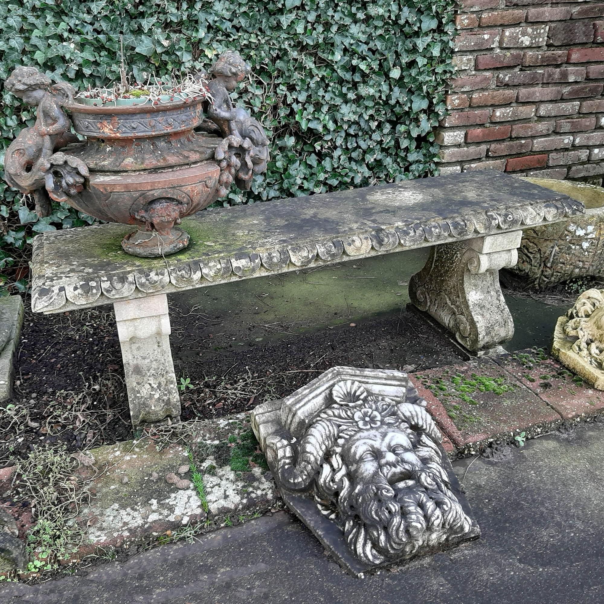 Old Stone Garden Bench Piet Jonker