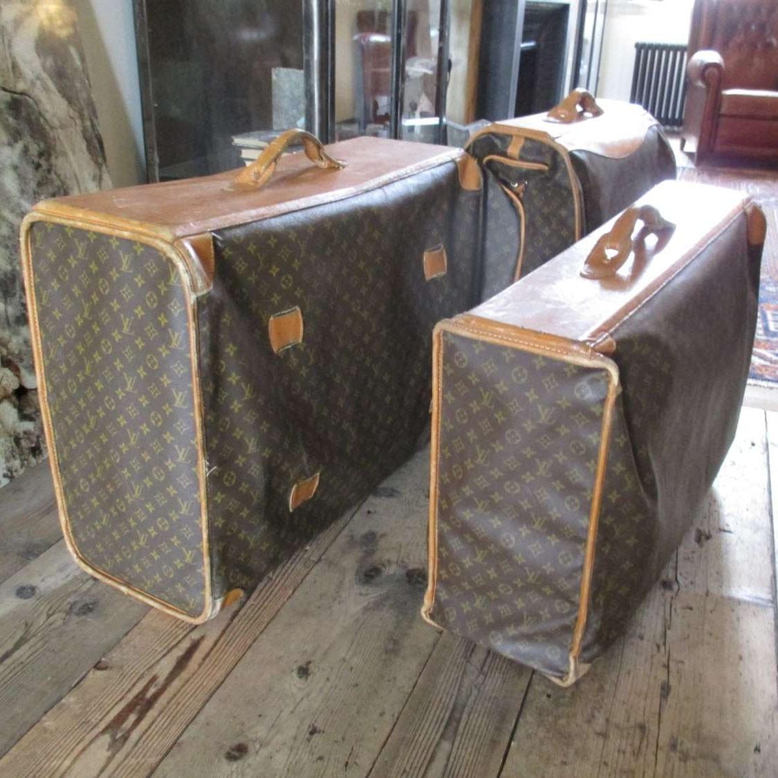 Vintage Louis Vuitton suitcases