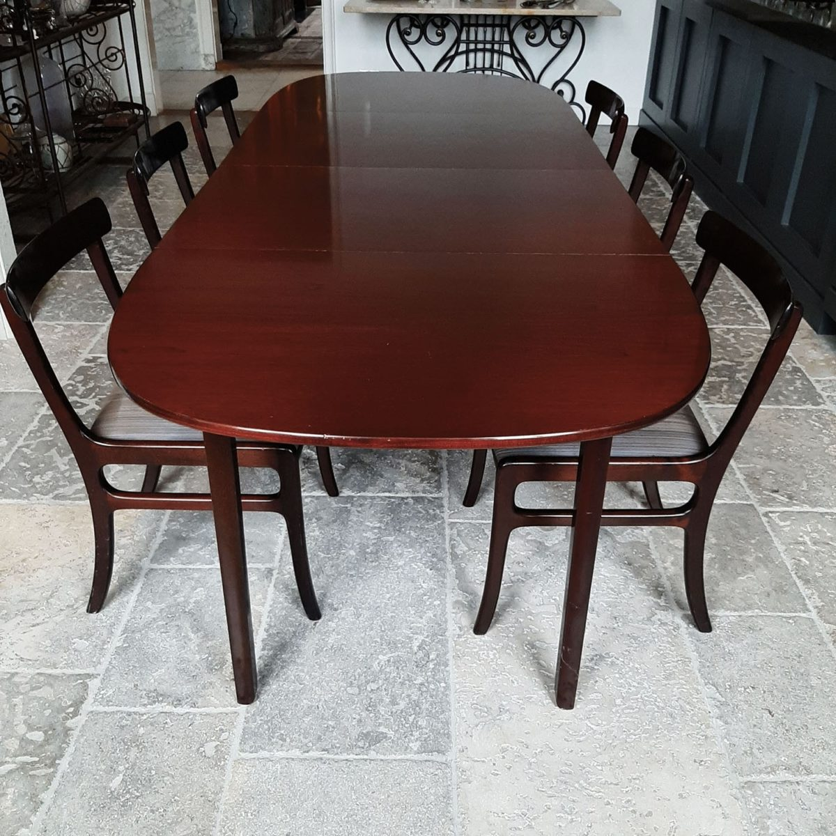 Ole Wanscher Mahogany Dining Table Set Piet Jonker