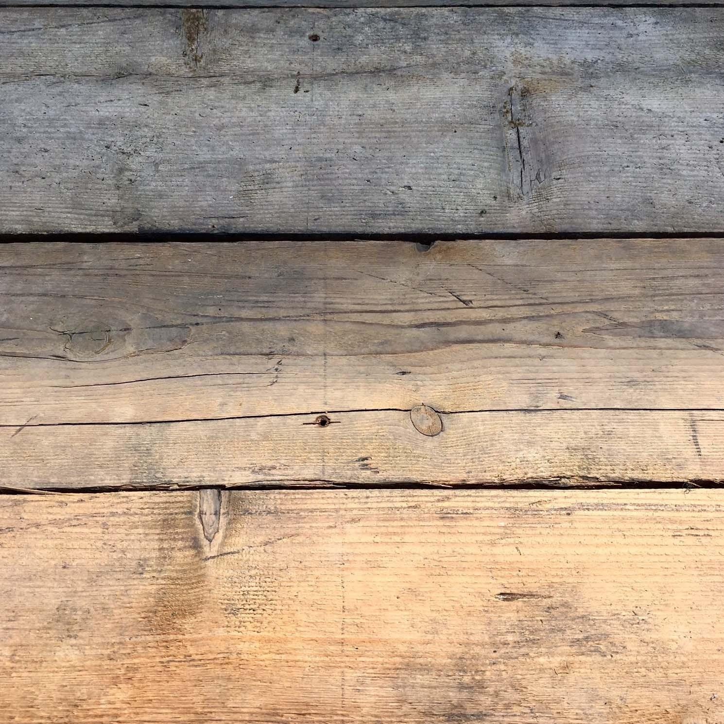 Rough old pine floorboards