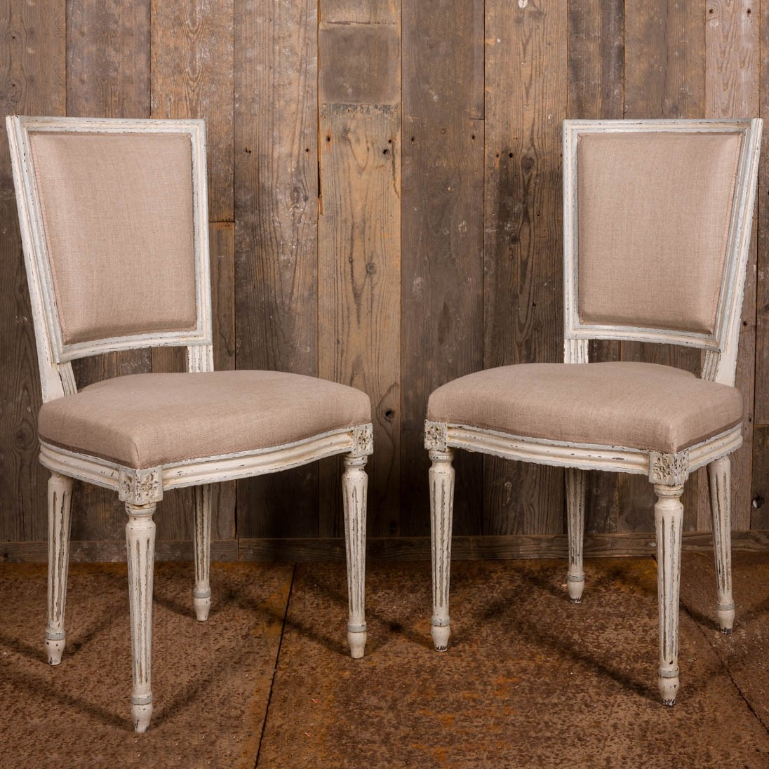 Set of eight Fully Restored French Louis XVI Style Dining Chairs