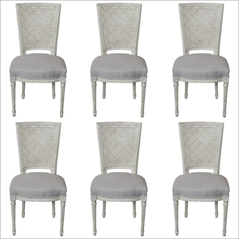 Set of Six Fully Restored French Louis XVI / Seize Style Dining Chairs